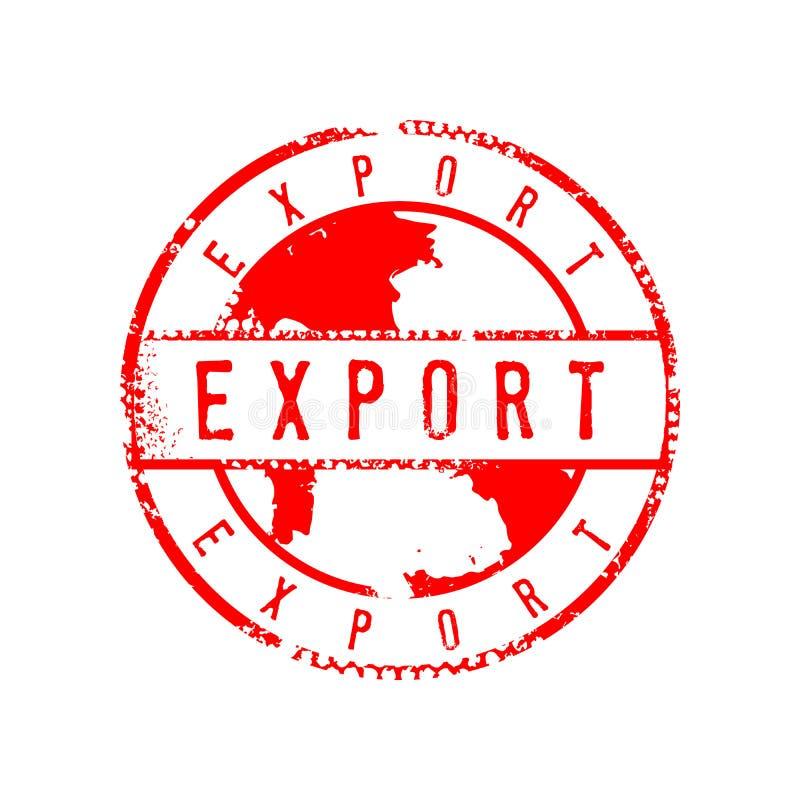 Plantilla apenada muestra del diseño gráfico de la muestra del sello del círculo de la exportación libre illustration