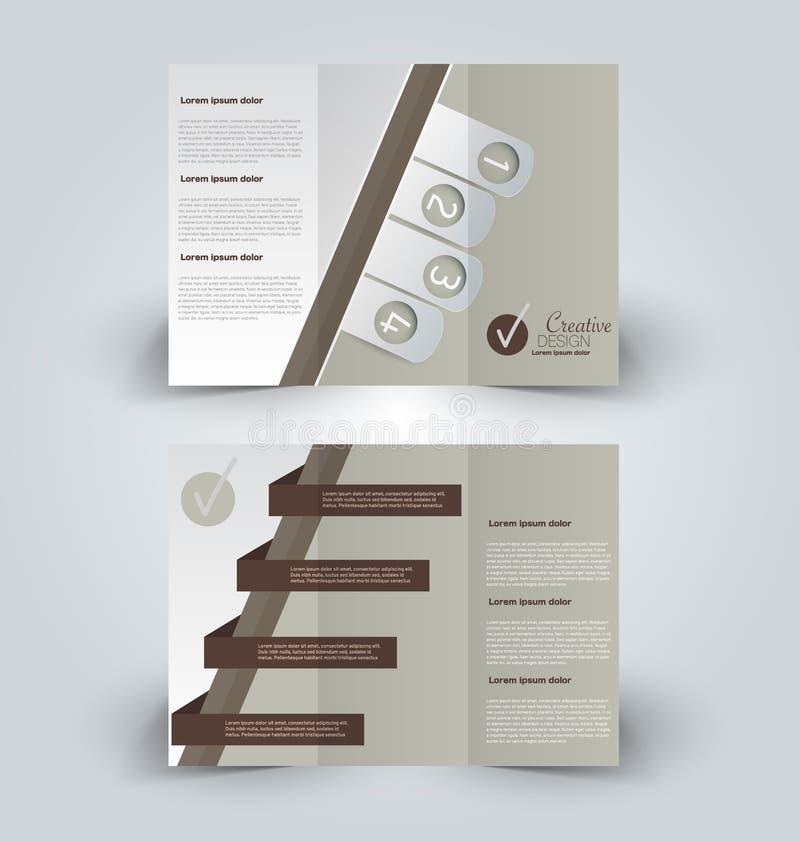 Plantilla ascendente del diseño de la mofa del folleto stock de ilustración