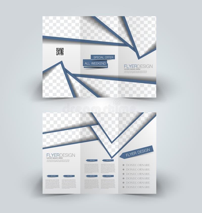 Plantilla ascendente del diseño de la mofa del folleto ilustración del vector