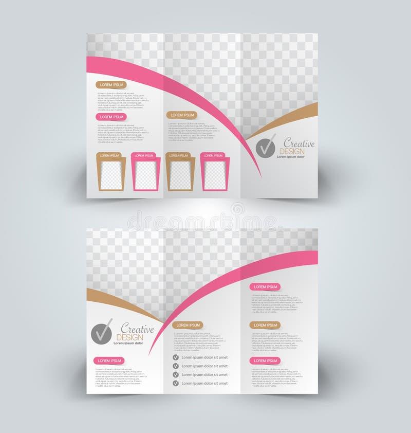 Plantilla ascendente del diseño de la mofa del folleto libre illustration