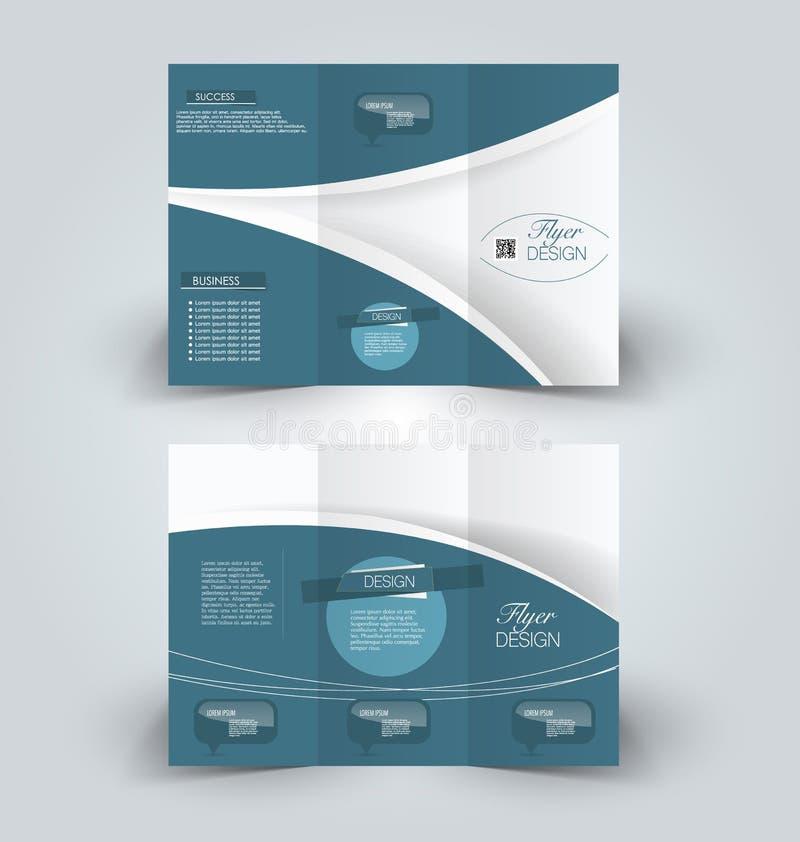 Plantilla ascendente del diseño de la mofa del folleto para el negocio libre illustration