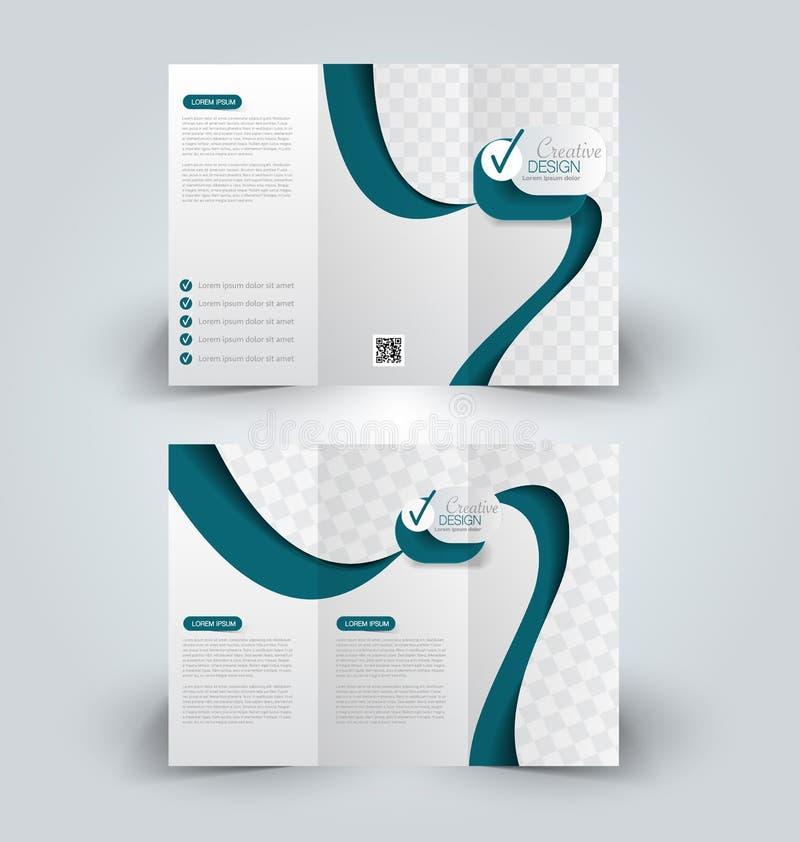 Plantilla ascendente del diseño de la mofa del folleto para el negocio stock de ilustración