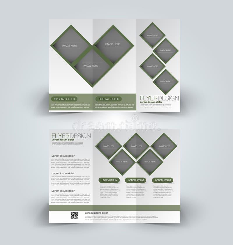 Plantilla ascendente del diseño de la mofa del folleto para el negocio ilustración del vector
