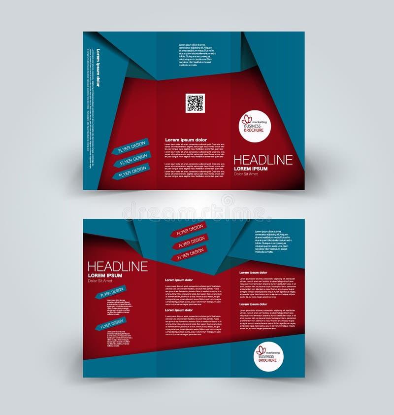 Plantilla ascendente del diseño de la mofa del folleto para el negocio, educación, anuncio stock de ilustración
