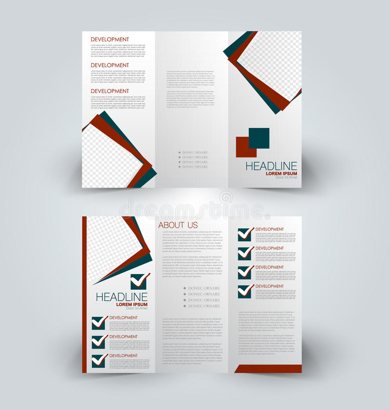 Plantilla ascendente del diseño de la mofa del folleto para el negocio, educación, anuncio ilustración del vector