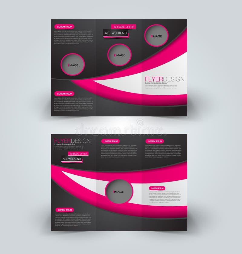 Plantilla ascendente del diseño de la mofa del folleto para el negocio, educación, anuncio libre illustration
