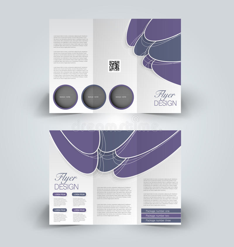 Plantilla ascendente del diseño de la mofa del folleto para el negocio, educación, anuncio Folleto triple libre illustration