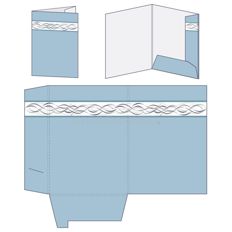 Plantilla azul de la carpeta libre illustration