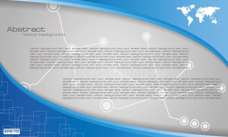 Plantilla azul del diseño del folleto del negocio del vector, ABS stock de ilustración