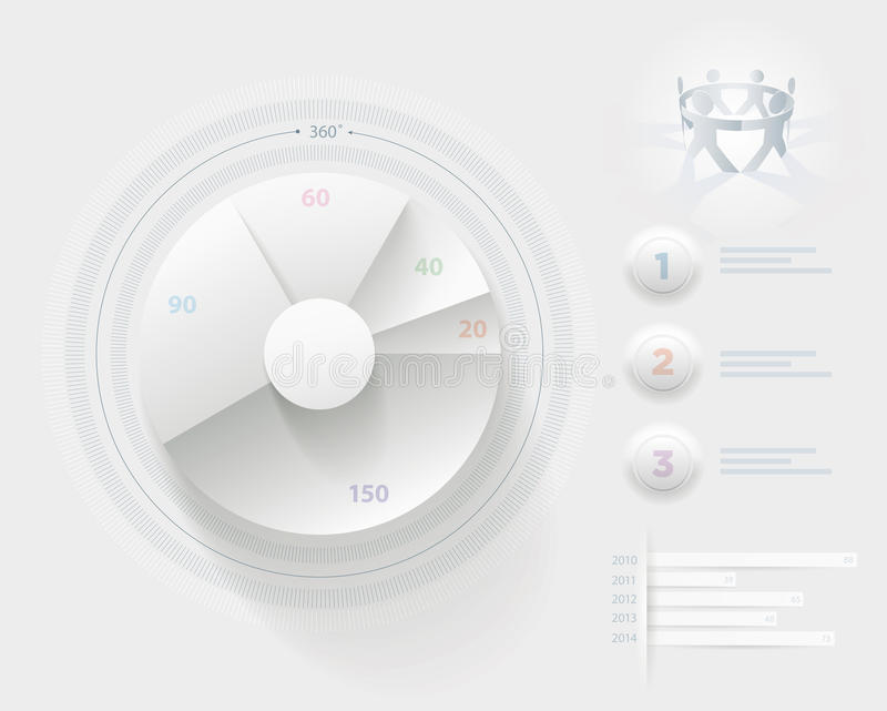Plantilla blanca de Infographic libre illustration