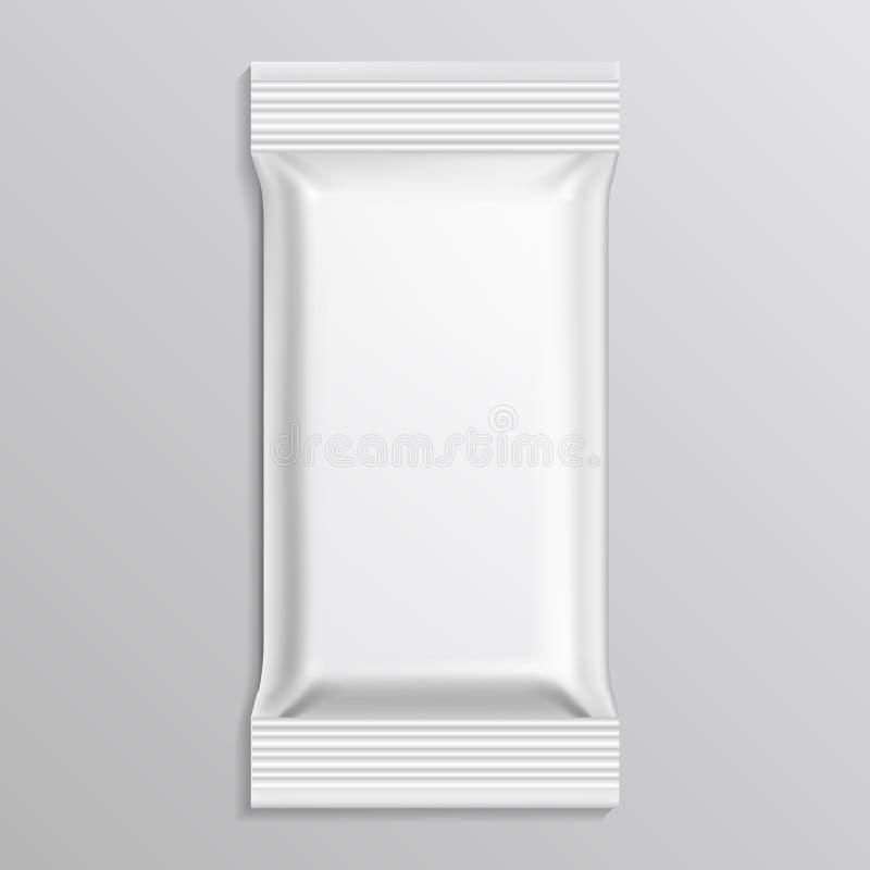 Plantilla blanca en blanco del vector del paquete del flujo stock de ilustración