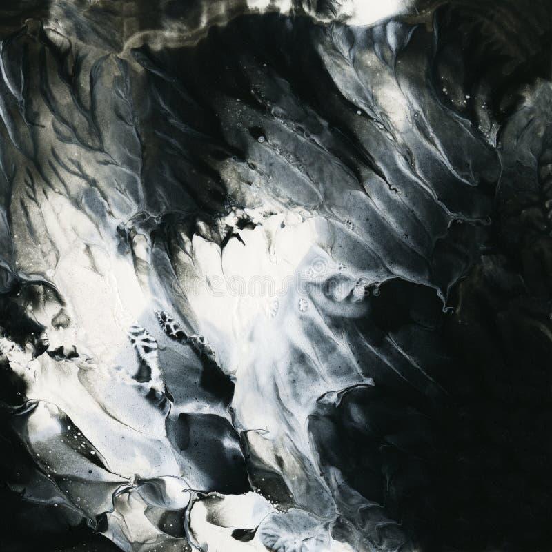 Plantilla blanco y negro abstracta del fondo. libre illustration