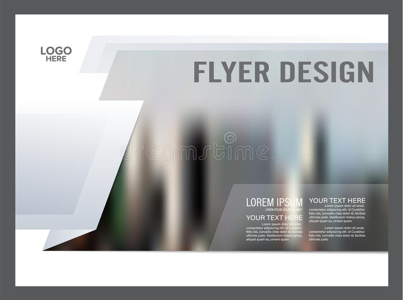 Plantilla blanco y negro del diseño de la disposición del folleto anual stock de ilustración
