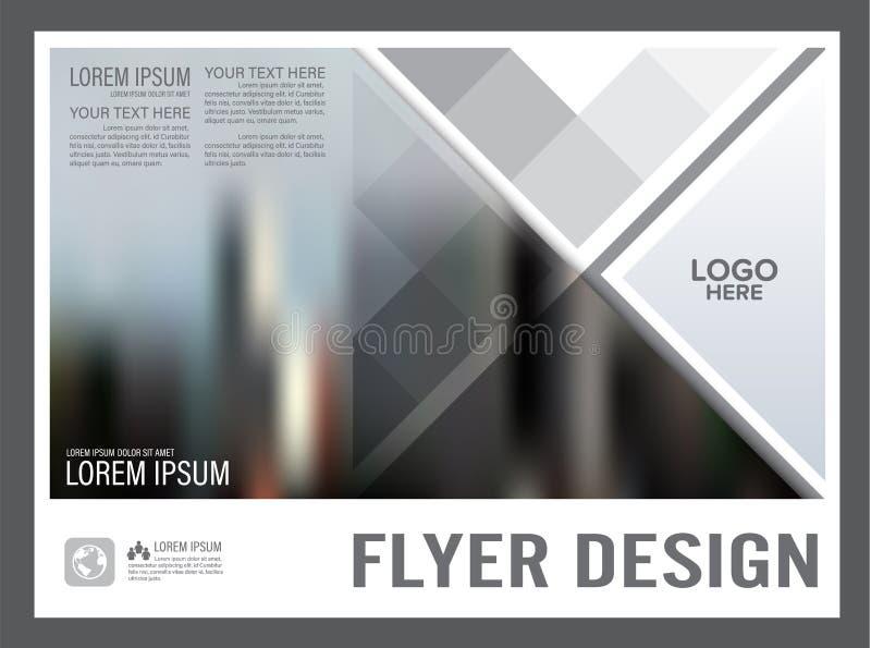 Plantilla blanco y negro del diseño de la disposición del folleto anual libre illustration