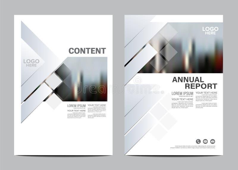 Plantilla blanco y negro del diseño de la disposición del folleto Fondo moderno de la presentación de la cubierta del prospecto d stock de ilustración