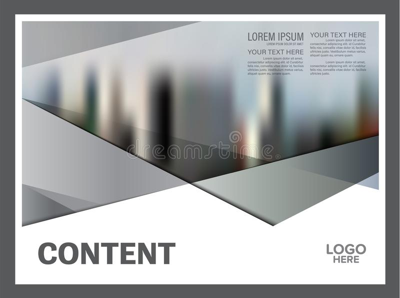Plantilla blanco y negro del diseño de la disposición del folleto Fondo moderno de la presentación de la cubierta del prospecto d ilustración del vector
