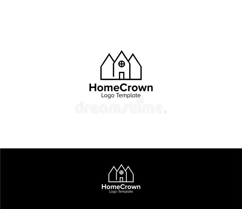 Plantilla casera del logotipo de la corona libre illustration