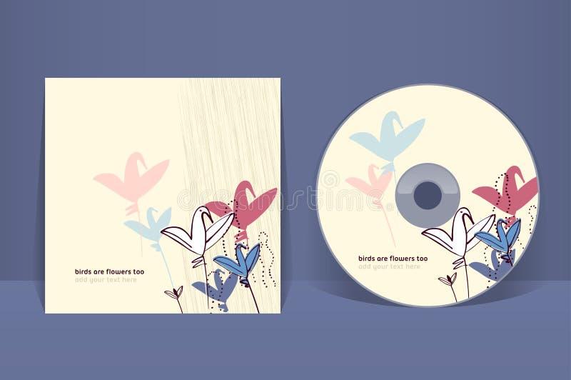 Plantilla CD del diseño de la cubierta ilustración del vector