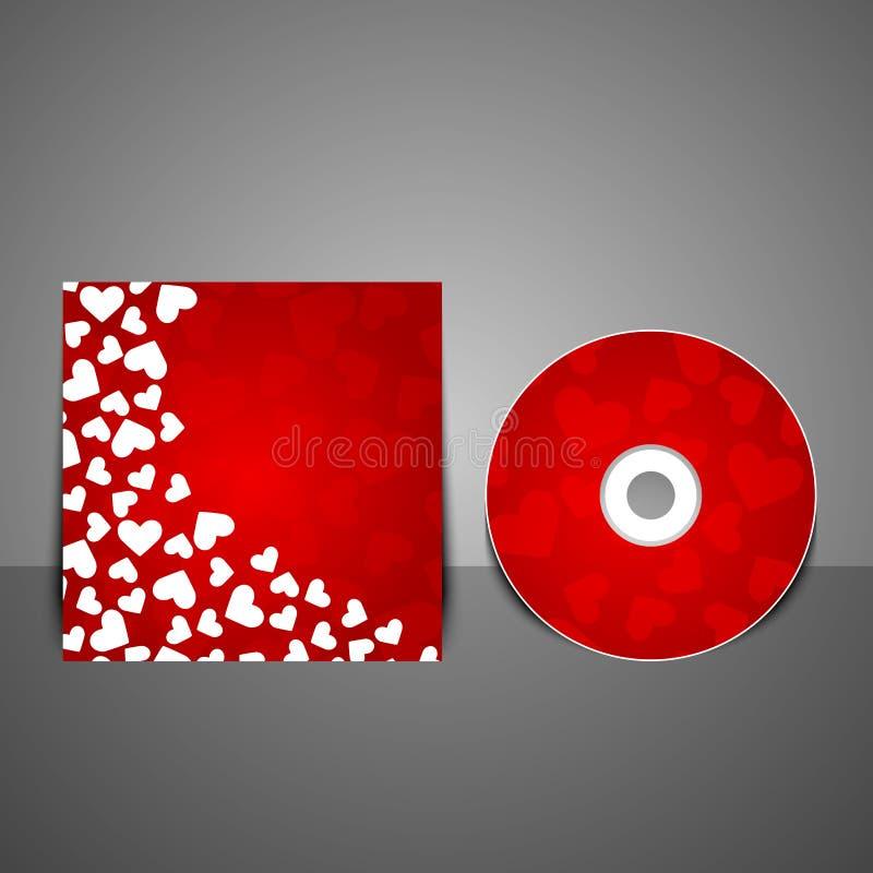 Plantilla cd del diseño de la cubierta del vector. stock de ilustración