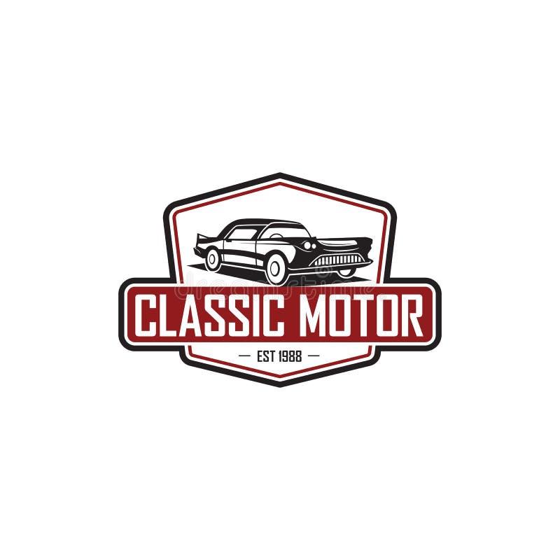 Plantilla clásica del logotipo del coche del ejemplo stock de ilustración