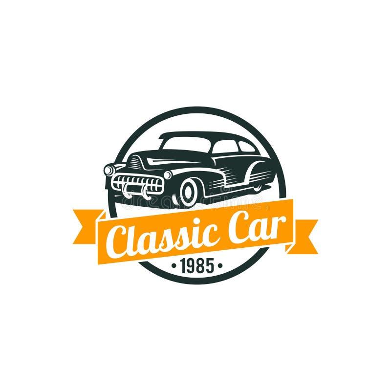 Plantilla clásica del vector del coche ilustración del vector