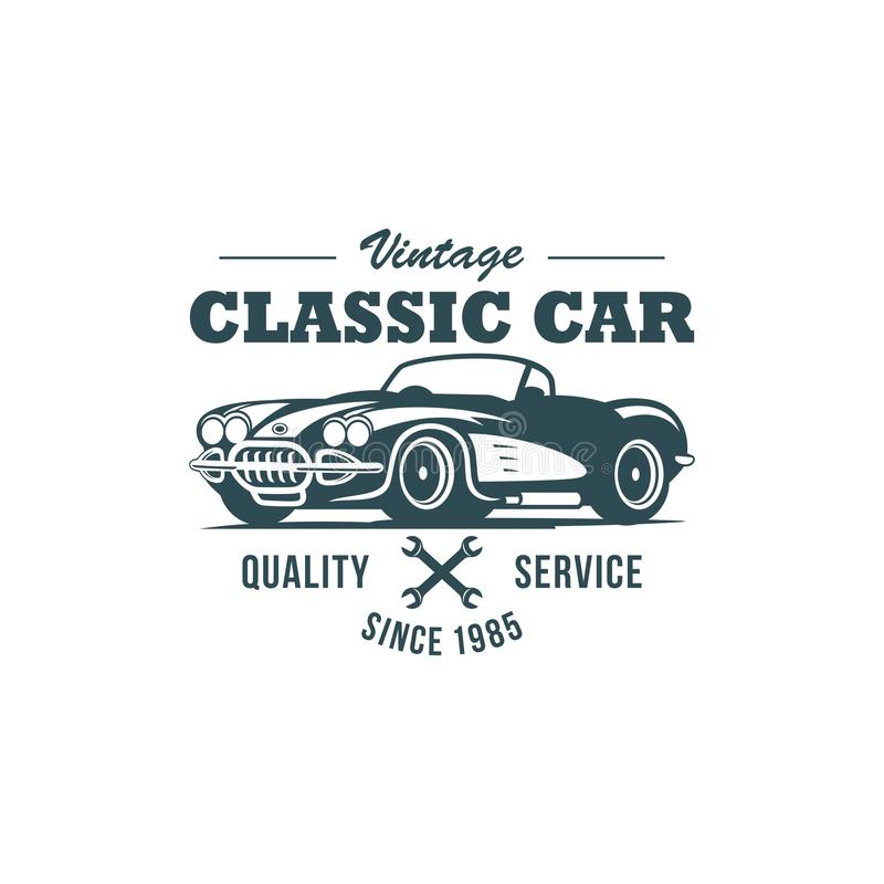 Plantilla clásica del vector del coche libre illustration