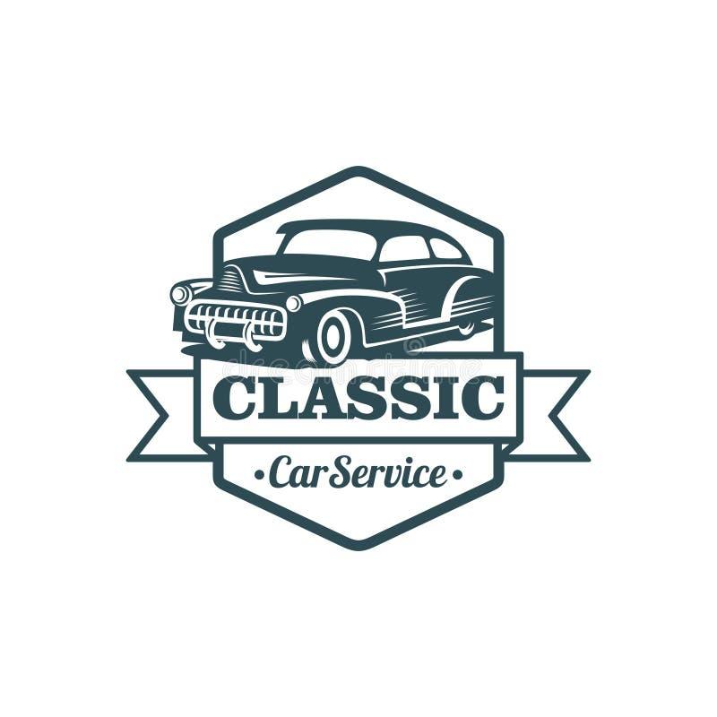 Plantilla clásica del vector del coche stock de ilustración