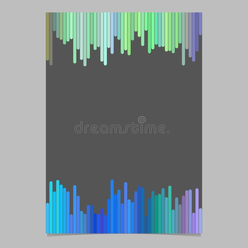 Plantilla coloreada del folleto - efectos de escritorio en blanco del vector, fondo del documento con las rayas verticales stock de ilustración