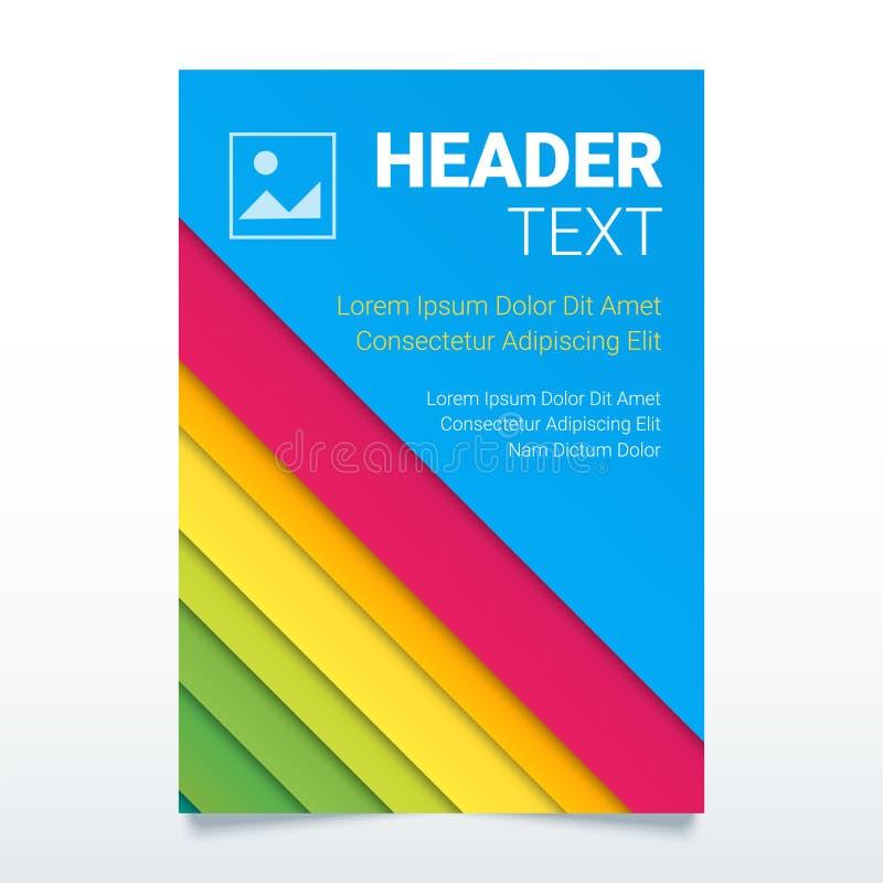 Plantilla colorida creativa del vector del aviador de tamaño A4 Cartel moderno, plantilla del negocio del folleto, cubierta del i stock de ilustración