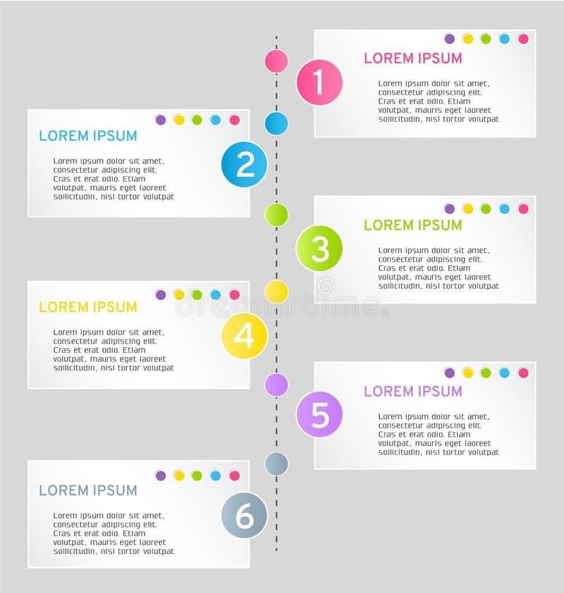 Plantilla colorida del diseño web del infographics moderno con la sombra ilustración del vector