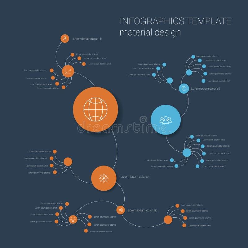 Plantilla colorida del infographics con los círculos libre illustration