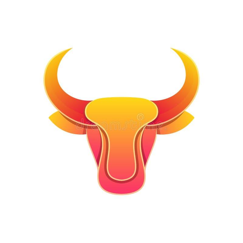 Plantilla colorida del vector del ejemplo del diseño de Bull de la cabeza abstracta libre illustration