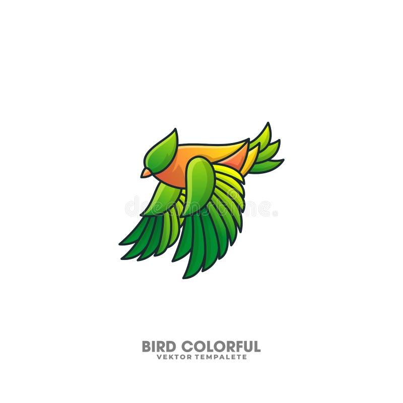 Plantilla colorida del vector del ejemplo del diseño del pájaro ilustración del vector