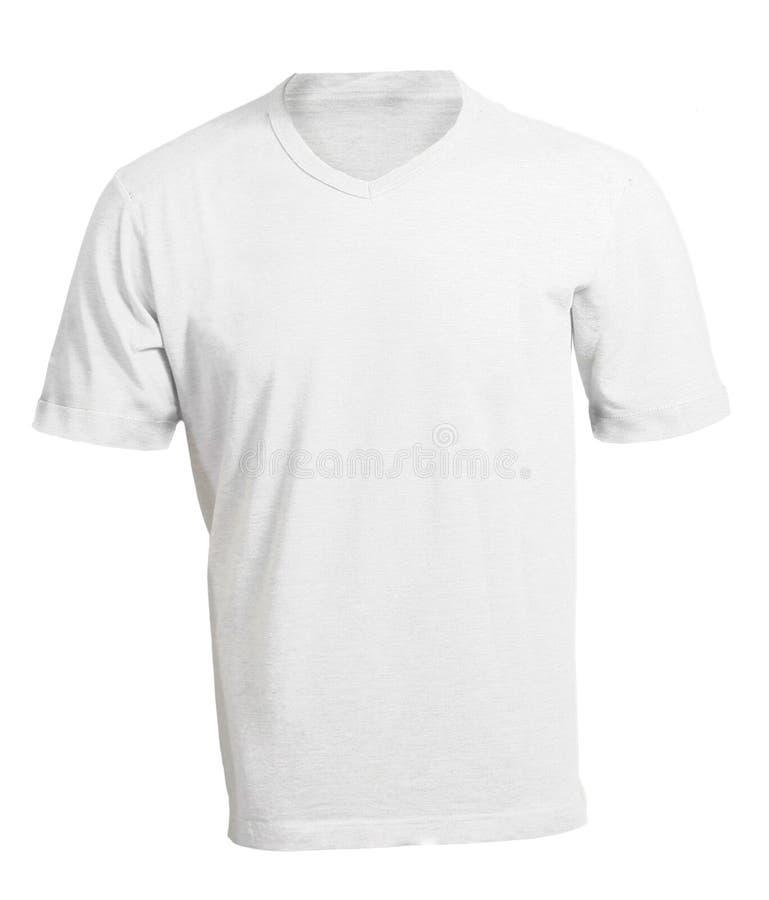 Plantilla Con Cuello De Pico Blanca En Blanco De La Camisa De Los ...