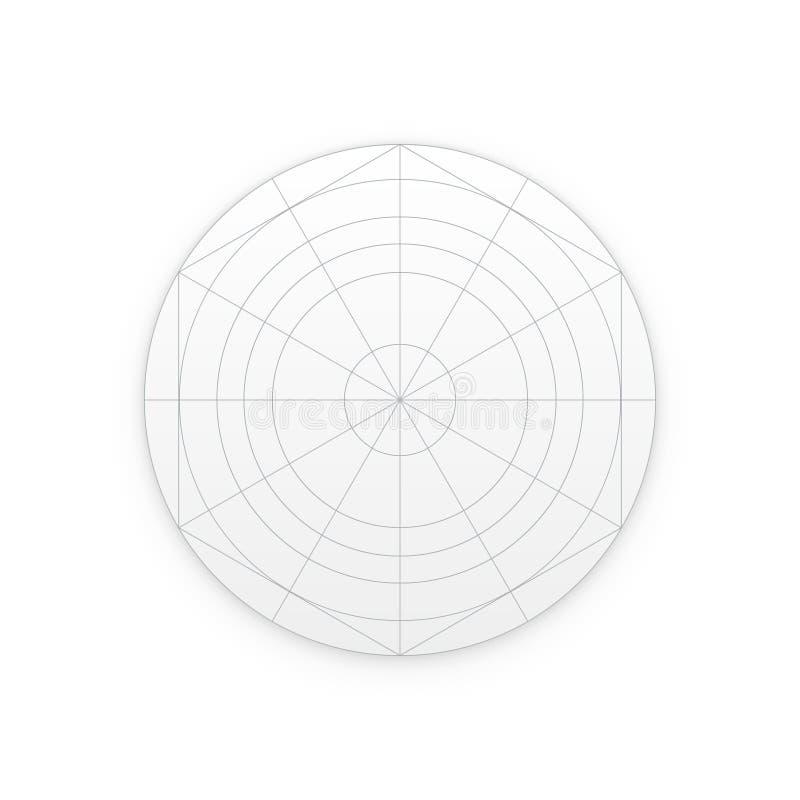 Plantilla con las instrucciones, rejillas del icono del uso stock de ilustración