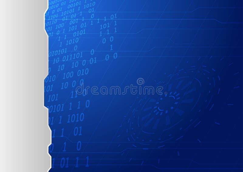 Plantilla conceptual azul del fondo libre illustration