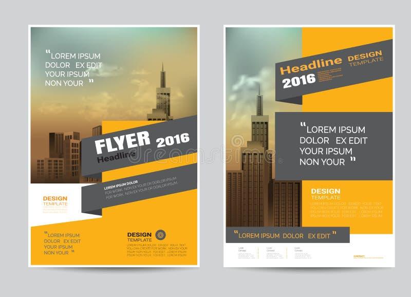 Plantilla corporativa de la disposición de diseño del aviador del folleto de tamaño A4 libre illustration