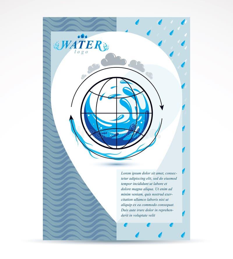 Plantilla corporativa del aviador del negocio de la entrega del agua Vect gráfico libre illustration