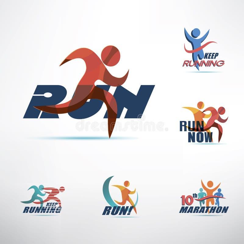 Plantilla corriente del logotipo de la gente libre illustration