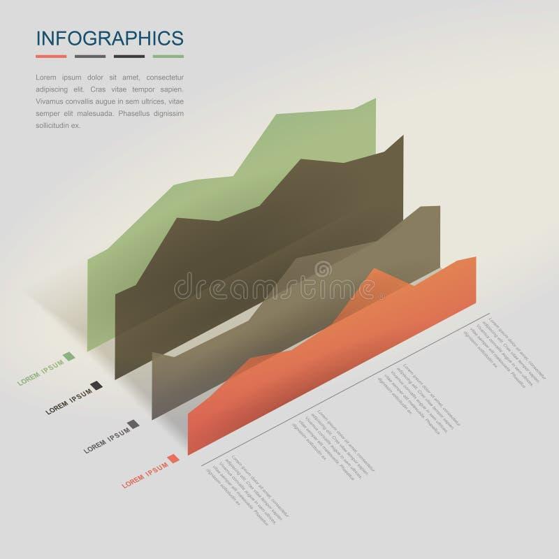 Plantilla creativa de Infographic ilustración del vector