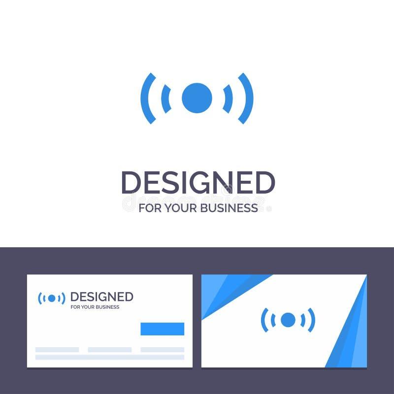 Plantilla creativa de la tarjeta y del logotipo de visita básica, esencial, señal, Ui, ejemplo del vector de Ux ilustración del vector