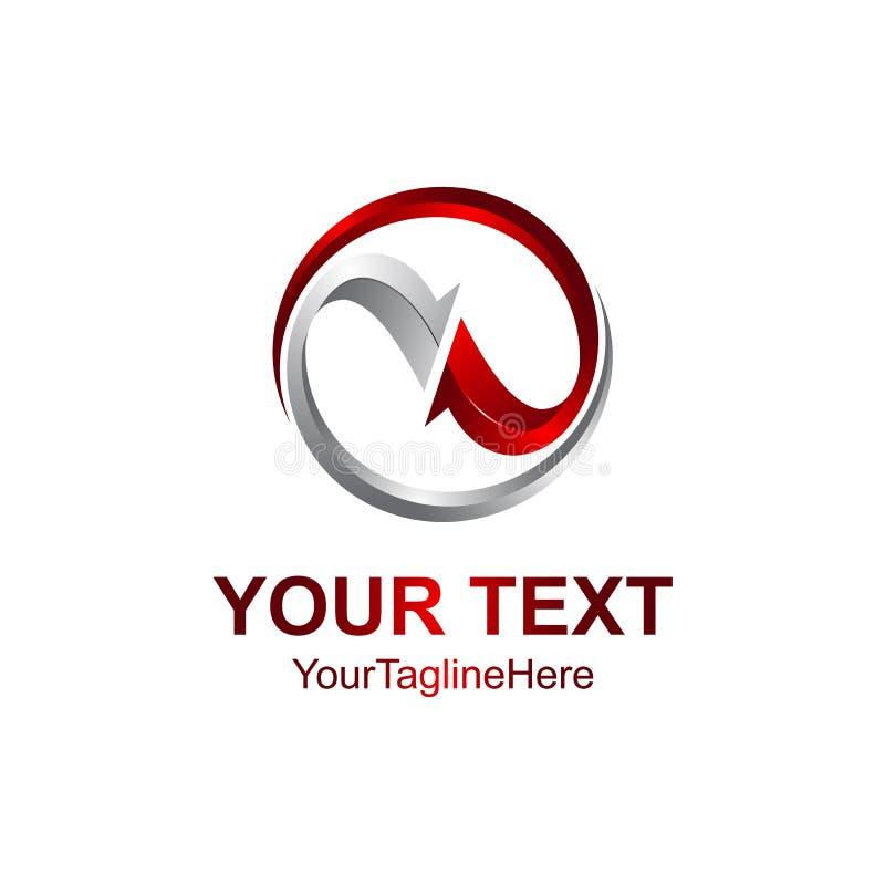 plantilla creativa del diseño del logotipo del círculo del extracto 3D Illustr del vector stock de ilustración