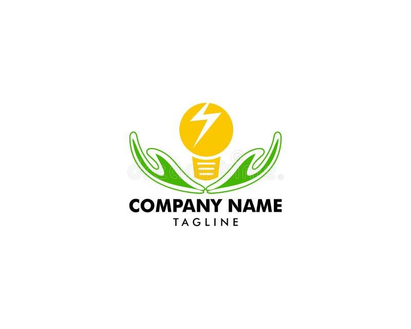 Plantilla creativa del diseño del logotipo del cuidado de la idea, diseños del símbolo del icono del bulbo libre illustration
