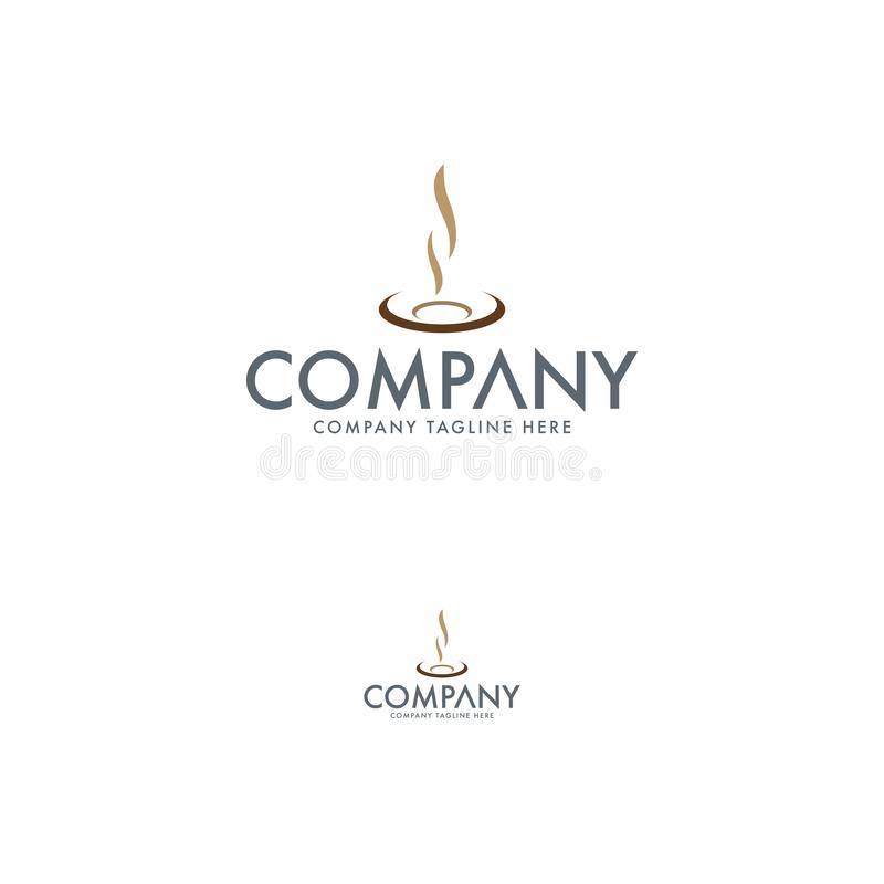 Plantilla creativa del diseño del logotipo del restaurante y del café libre illustration