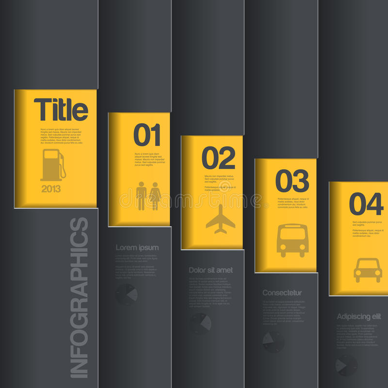 Plantilla creativa del diseño. St del negocio de Infographics libre illustration