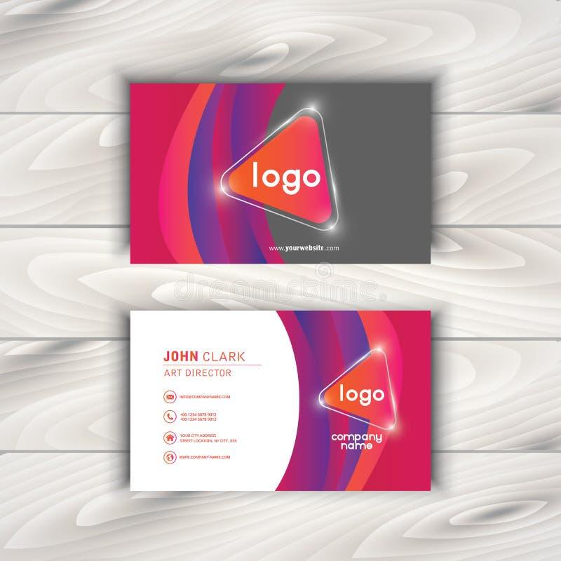Plantilla creativa del vector y limpia moderna de la tarjeta de visita stock de ilustración