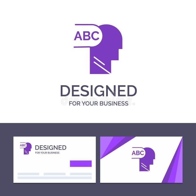 Plantilla creativa elemental, conocimiento, ejemplo principal de la tarjeta y del logotipo de visita del vector libre illustration