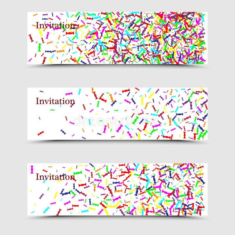 Plantilla creativa moderna del folleto del negocio de tres veces con el caramelo brillante en un fondo blanco para la invitación, stock de ilustración