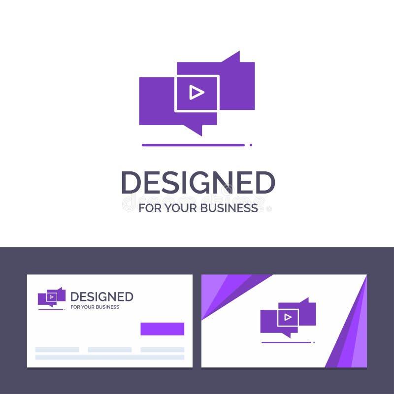 Plantilla creativa viral, márketing, márketing viral, ejemplo de la tarjeta y del logotipo de visita del vector de Digitaces libre illustration