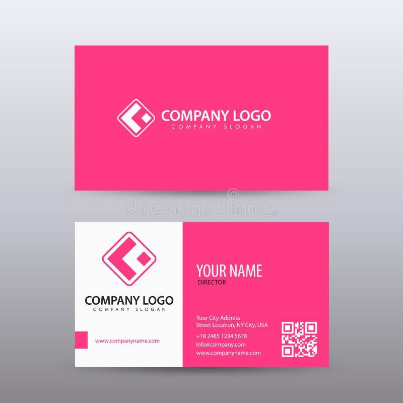 Plantilla creativa y limpia moderna de la tarjeta de visita con color rosado Completamente editable ilustración del vector